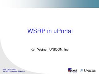 WSRP in uPortal