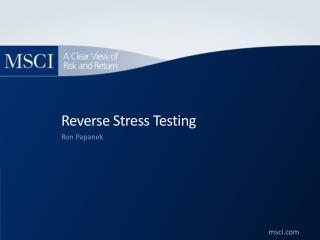 Reverse Stress Testing
