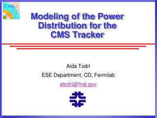 Modeling of the Power Distribution for the CMS Tracker