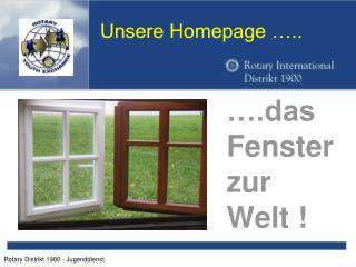 Unsere Homepage …..