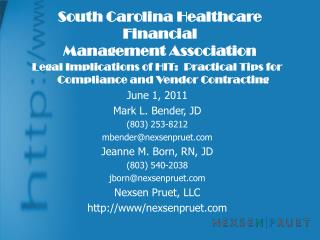 South Carolina Healthcare Financial Management Association