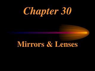Mirrors  Lenses