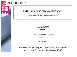 EMAS Verification and Validation Impressions from an Accreditation Body
