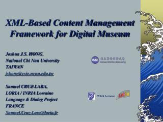 XML-Based Content Management Framework for Digital Museum