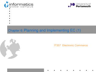 Chapter 6: Planning and Implementing EC (1)