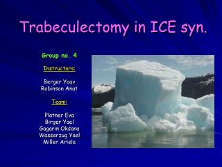 Trabeculectomy in ICE syn.