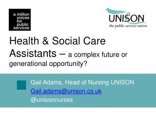 Health & Social Care Assistants –  a complex future or generational opportunity?