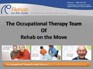 Occupational Therapy Team of Rehab on the Move