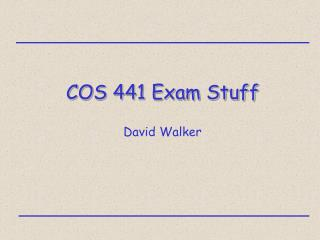 COS 441 Exam Stuff