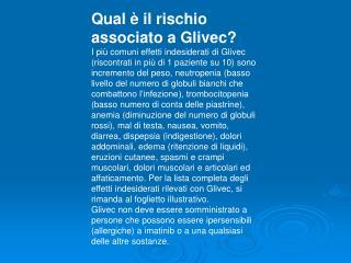 Qual è il rischio associato a Glivec?
