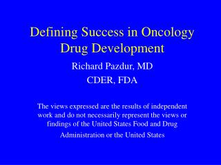Defining Success in Oncology Drug Development