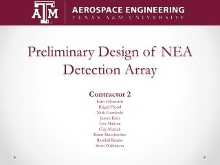 Preliminary Design of NEA Detection Array