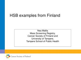 HSB examples from Finland