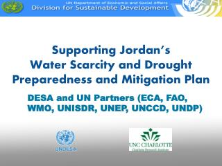 Supporting Jordan's Water Scarcity and Drought Preparedness and  Mitigation Plan