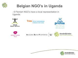 Belgian NGO's in Uganda
