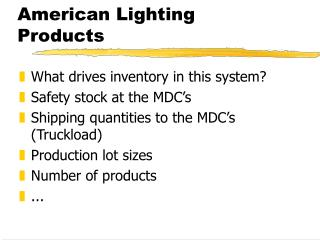 American Lighting Products