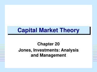 Capital Market Theory