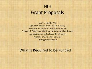 What is Required to be Funded