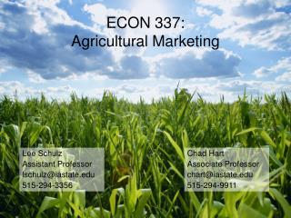 ECON 337: Agricultural Marketing