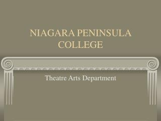NIAGARA PENINSULA COLLEGE