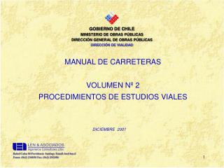 GOBIERNO DE CHILE MINISTERIO DE OBRAS PÚBLICAS DIRECCIÓN GENERAL DE OBRAS PÚBLICAS