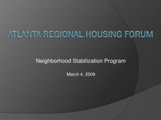 Atlanta Regional Housing Forum