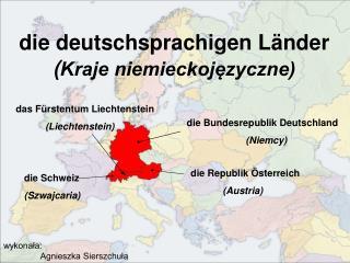 Die deutschsprachigen L nder Kraje niemieckojezyczne