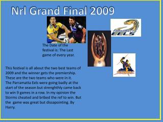 Nrl  Grand Final 2009
