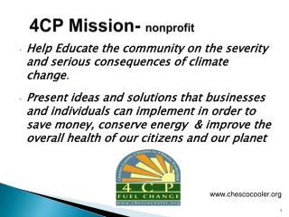 4CP Mission-  nonprofit