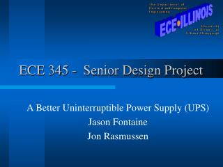 ECE 345 -  Senior Design Project