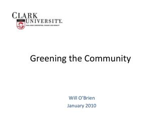 Greening the Community