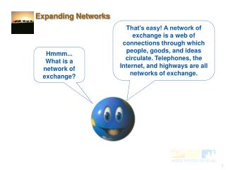 Hmmm... What is a network of exchange?