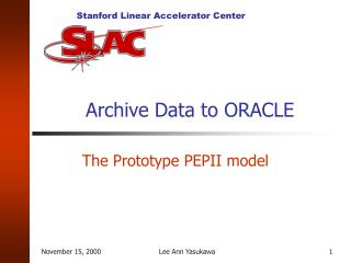 Archive Data to ORACLE