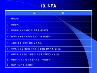 10. NPA
