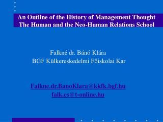 Falkn� dr. B�n� Kl�ra  BGF K�lkereskedelmi F?iskolai Kar Falkne.dr.BanoKlara@kkfk.bgf.hu