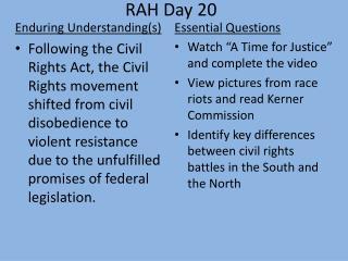 RAH Day 20
