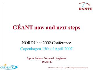 GÉANT now and next steps
