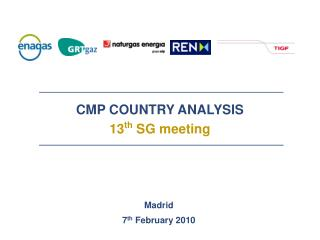 CMP COUNTRY ANALYSIS 13 th  SG meeting