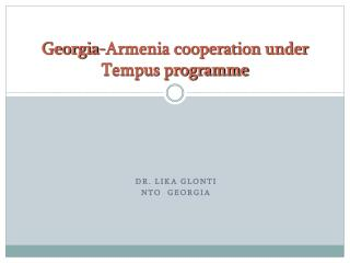 Georgia-Armenia cooperation under Tempus programme