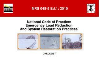 NRS 048-9 Ed.1: 2010