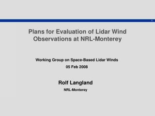Rolf Langland NRL-Monterey