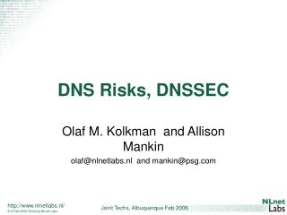 DNS Risks, DNSSEC