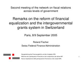 Intergovernmental transfers 2001/02 in billion CHF (in paranthesis: financial equalization)