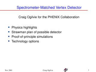 Spectrometer-Matched Vertex Detector