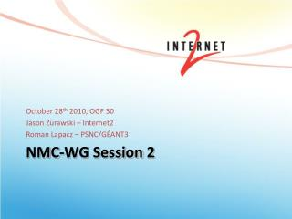 NMC-WG Session 2