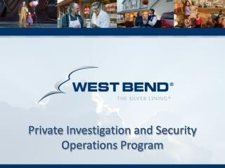 Private Investigation and Security Operations Program
