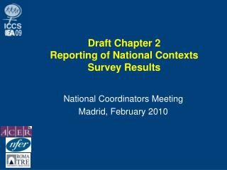 Draft Chapter 2 Reporting of National Contexts Survey Results