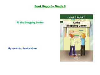 Book Report – Grade 4