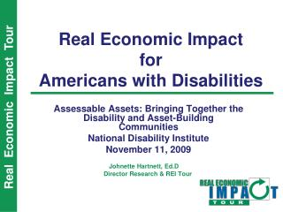 Real Economic Impact for Americans with Disabilities