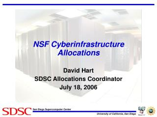 NSF Cyberinfrastructure Allocations
